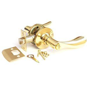 Рычажная с механизмом (золото) фиксатор Ручка для межкомнатных дверей Арсенал
