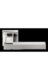 Ручка дверная MORELLI DIY MH-37 SN/BN-S белый никель/черный никель