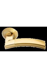 Дверная ручка Morelli MH-12 SG/GP Цвет Матовое золото/золото