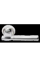 Дверная ручка Morelli MH-13 SN/CP Цвет Белый никель/хром