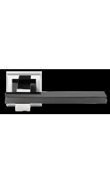 Ручка дверная MORELLI DIY MH-38 SN/BN-S белый никель/черный никель