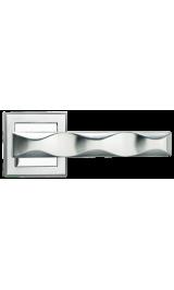 Ручка дверная MORELLI MH-20 SC/CP-S матовый хром/полированный хром