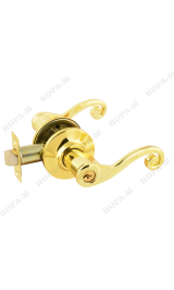 3В-01 (золото) Ручка для межкомнатных дверей ключ Нора-М