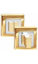 OLS_PB Золото блестящее Фиксатор квадратный для межкомнатных дверей
