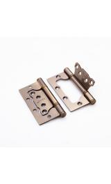 Петля стальная НАКЛАДНАЯ (без врезки) 100-2BB FH AB бронза (комплект 2 шт)