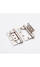 Петля стальная НАКЛАДНАЯ (без врезки) 100-2BB FH SN никель матовый (комплект 2 шт)