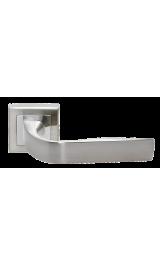 Дверная ручка RUCETTI RAP 15-S SN/CP Цвет - Белый никель/хром