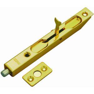 Ригель для двойной двери золото