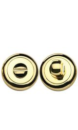 BK 04 латунь блестящая Фиксатор круглый для межкомнатных дверей