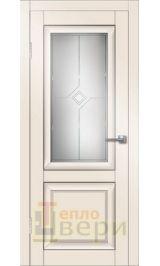 Деканто Белый бархат матовое стекло межкомнатная дверь