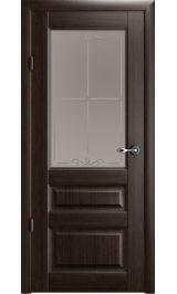 """Эрмитаж 2 Винил орех стекло мателюкс бронза рис. 'Галерея"""" межкомнатная дверь"""