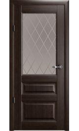"""Эрмитаж 2 Винил орех стекло мателюкс бронза рис. 'Ромб"""" межкомнатная дверь"""