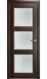 """Эрмитаж 3 Винил орех стекло мателюкс бронза рис. 'Галерея"""" межкомнатная дверь"""