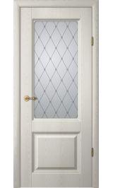 """Тициан 1 Ясень голд матовое стекло рис. """"Классика"""" межкомнатная дверь"""