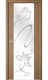 """Сан-Ремо-1 Янтарный кипарис молочное стекло рис.""""Симфония"""" межкомнатная дверь"""