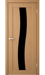 Токио 3 Миланский орех черное стекло межкомнатная дверь