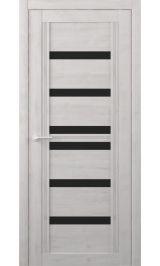 Миссури Soft touch Жемчужный черное стекло межкомнатная дверь