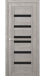 Миссури Soft touch Графит черное стекло межкомнатная дверь
