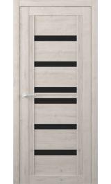 Миссури Soft touch Кремовый черное стекло межкомнатная дверь