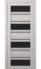 Монтана Soft touch Жемчужный черное стекло межкомнатная дверь