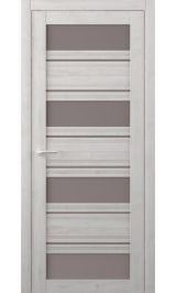 Монтана Soft touch Жемчужный стекло мателюкс бронза межкомнатная дверь