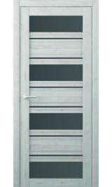 Монтана Soft touch Жемчужный стекло графит межкомнатная дверь