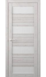 Монтана Soft touch Жемчужный молочное стекло межкомнатная дверь