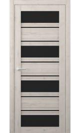 Монтана Soft touch Кремовый черное стекло межкомнатная дверь