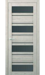 Монтана Soft touch Кремовый стекло графит межкомнатная дверь