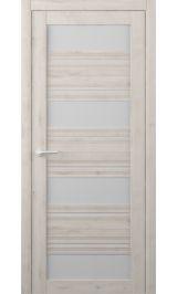 Монтана Soft touch Кремовый матовое стекло межкомнатная дверь