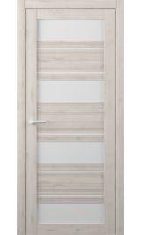 Монтана Soft touch Кремовый молочное стекло межкомнатная дверь