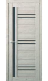 Невада Soft touch Кремовый стекло графит межкомнатная дверь