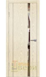 Ц-ДО-М2 Грань крем черное стекло межкомнатная дверь