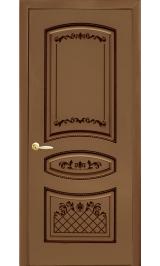 Крит ДГ Орех темный шпон файнлайн Коллекция Silver межкомнатная дверь