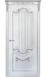 Орлеан ДГ белая эмаль патина серебро Коллекция Silver межкомнатная дверь