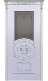 Президент ДО белая эмаль Коллекция Silver межкомнатная дверь