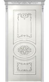 Президент ДГ белая эмаль Коллекция Silver межкомнатная дверь