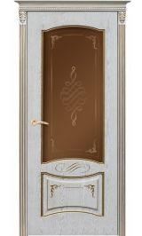 Рим ДО эмаль ваниль патина перламутр Коллекция Silver межкомнатная дверь