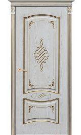 Рим ДГ эмаль ваниль патина перламутр Коллекция Silver межкомнатная дверь