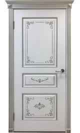 Вена ДГ белая эмаль  Коллекция Silver межкомнатная дверь