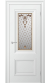Dora до стекло матовое (белая эмаль) межкомнатная дверь