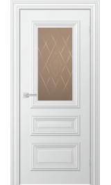 Ella до стекло матовое (белая эмаль) межкомнатная дверь