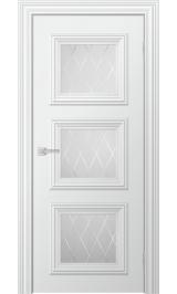 Miel до стекло матовое (белая эмаль) межкомнатная дверь