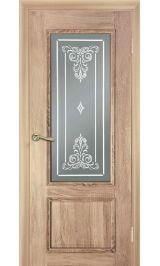 Дека светлый дуб стекло матовое межкомнатная дверь