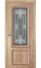Ева светлый дуб стекло матовое межкомнатная дверь