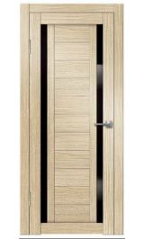 Виктория-2 ДО (лиственница) черное стекло межкомнатная дверь