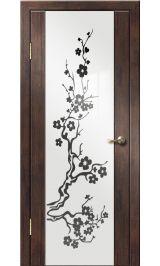 Диана ДО Триплекс (сакура) венге/стекло матовое межкомнатная дверь