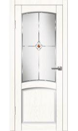 Румба ДО белый жемчуг межкомнатная дверь (Витрина)