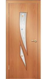 Премиум ДО-55-Комета ФЬЮЗИНГ (миланский орех) межкомнатная дверь (Остатки)