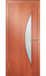 Премиум ДО-06-Луна ФЬЮЗИНГ (миланский орех) межкомнатная дверь (Витрина)